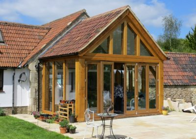 Oak-framed Extension & Renovation of Grade II Listed Cottage, Wiltshire