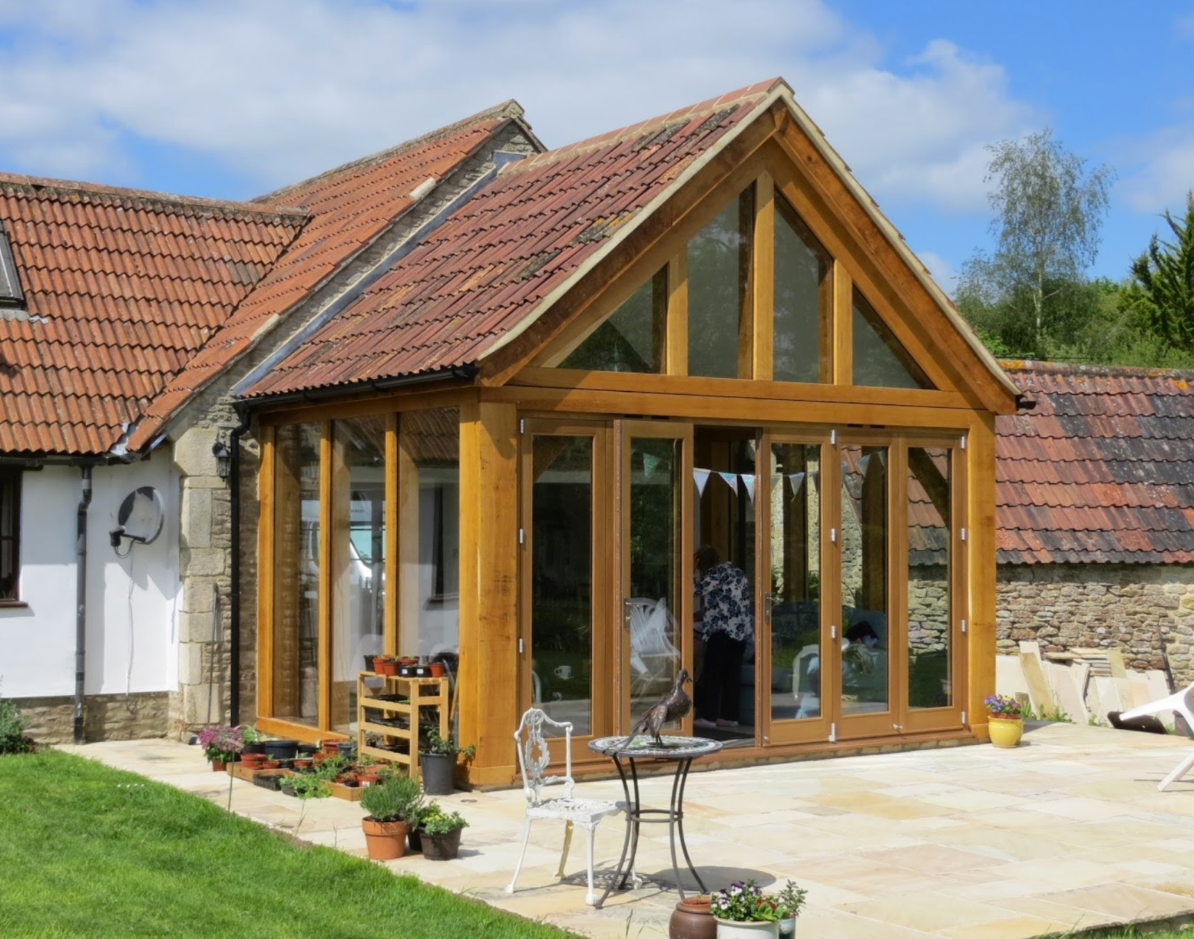 Oak Framed Extension Grade Ii Listed Cottage Lacock