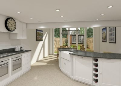 3D Visualisations of Renovation & Extension, Oxford