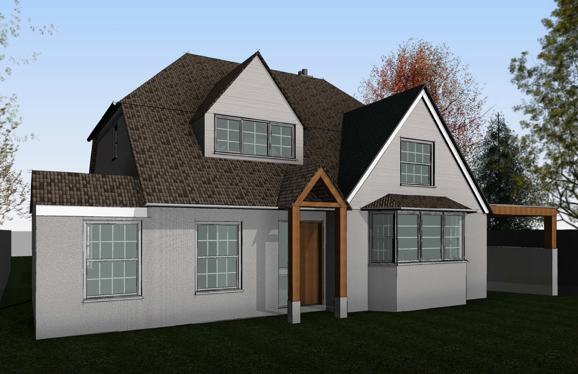 Front Elevation 3D Kennet Design Architecture & Planning Wiltshire