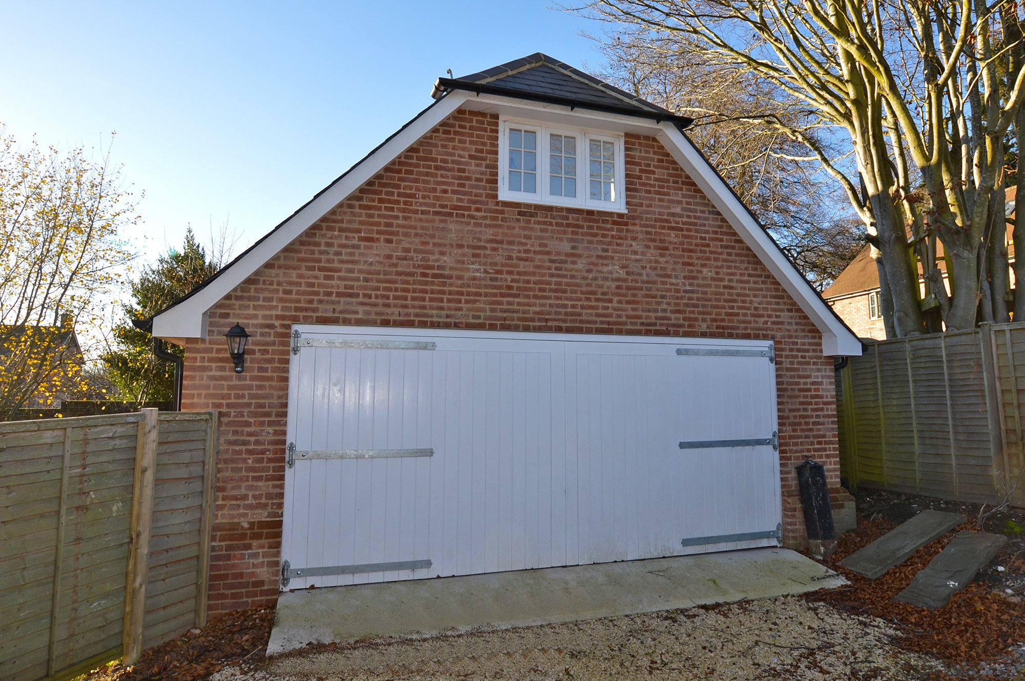 Double garage build wiltshire kennet design Double garage with room above