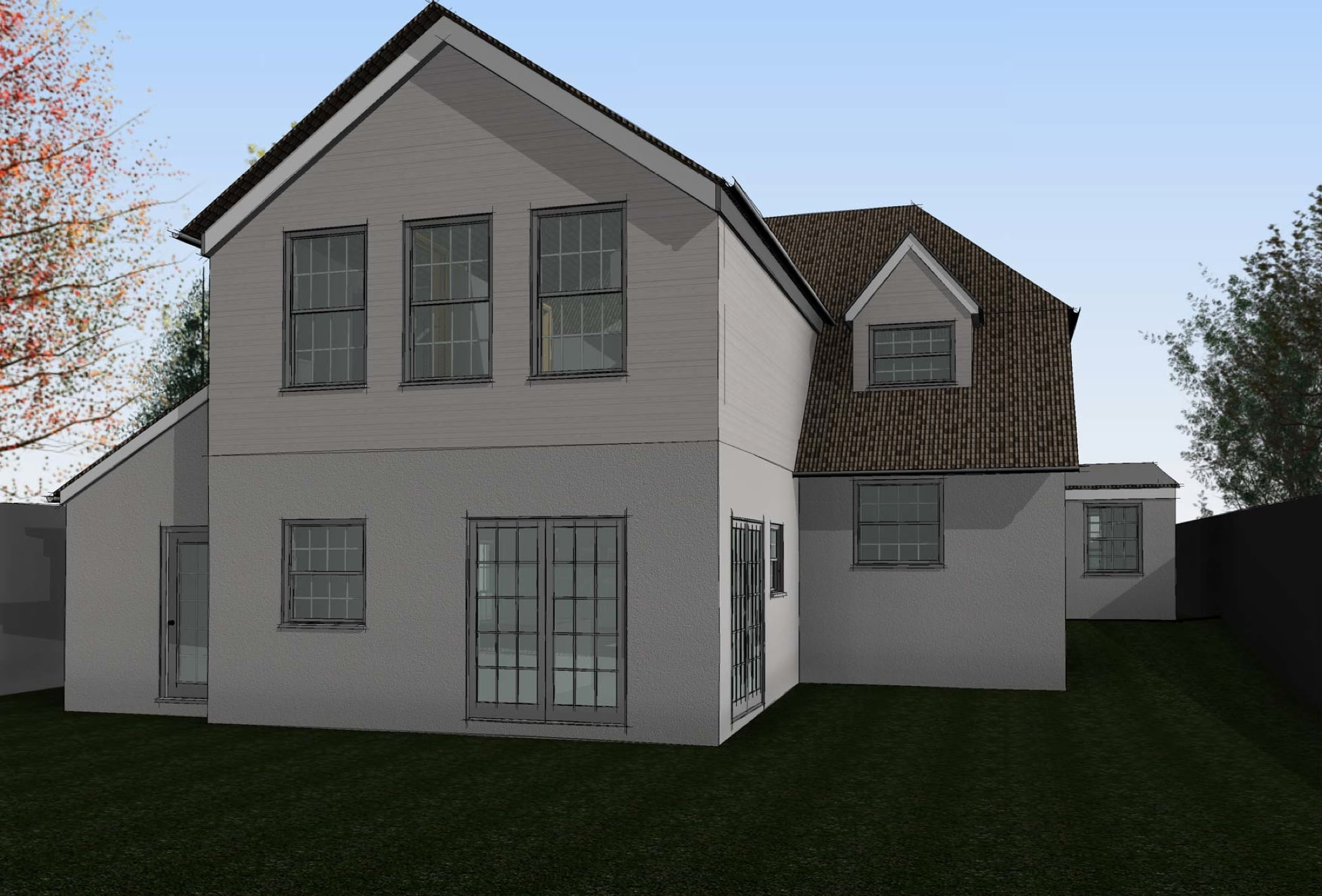 Rear Elevation 3D Kennet Design Architecture & Planning Wiltshire