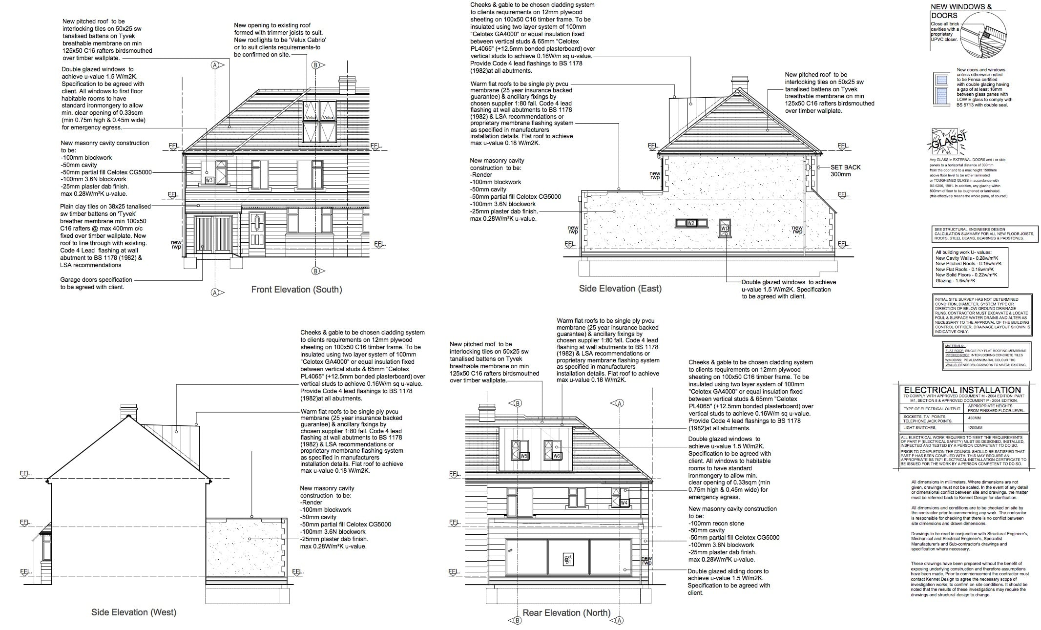 elevations for extension loft conversion in bath