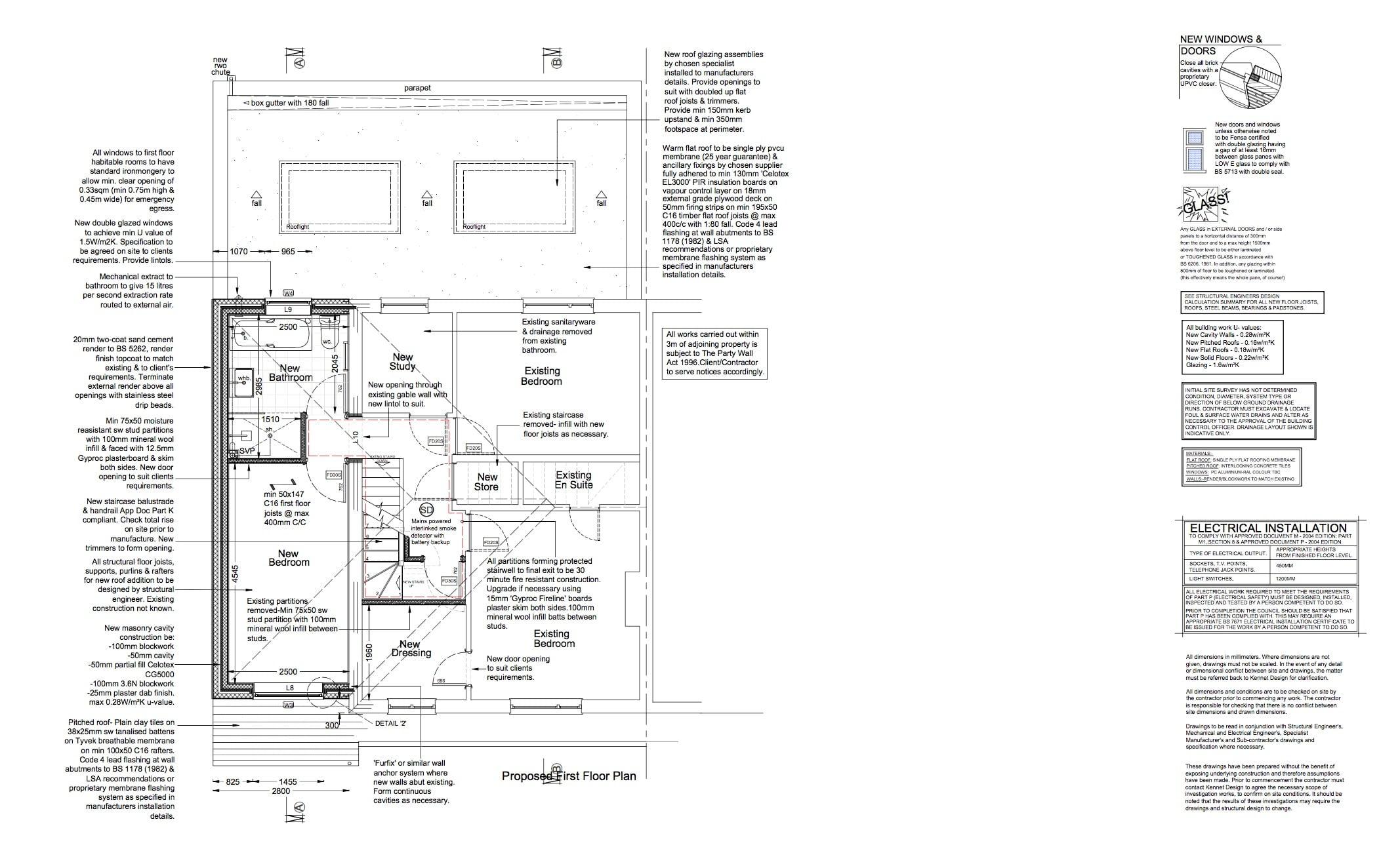 floorplans 2 for extension loft conversion in bath